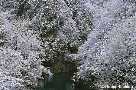 今月の一枚・2004年12月「初冬の抱返り渓谷」(秋田県角館町)