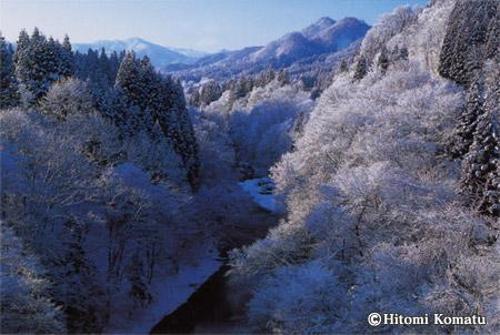 今月の一枚・2005年12月「冬の阿仁川」(秋田県北秋田市・旧阿仁町)