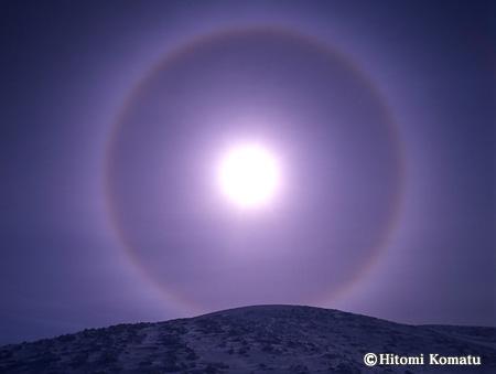 今月の一枚・2007年1月「日輪」秋田駒ヶ岳にて