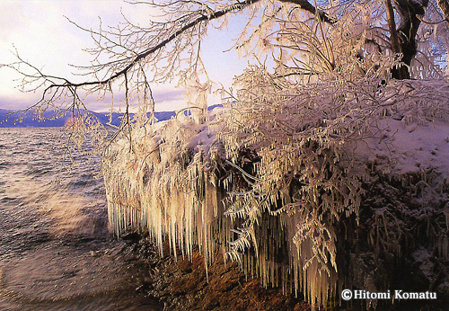 今月の一枚・2008年12月「波氷」(青森県 十和田湖)