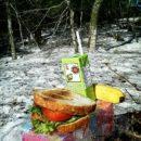 ブナの森で撮影後のランチ